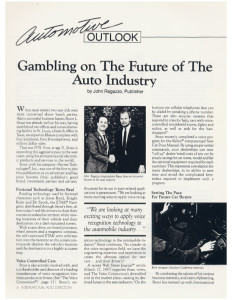 Automotive Outlook Article Page 1